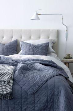 Ellos Home Överkast Eileen stl 260x260 cm Överkast i tvättad kvalitet med quiltat rutmönster. Stl 260x260 cm. <br><br>100% bomull<br>Fyllning: 100% polyester<br>Tvätt 40°