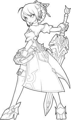 Feel free to color! But please credit me and give me the link to your finished picture, I'd love to see it ~ I do not own the original picture ~ C. Lineart Anime, Art Deco Illustration, Anime Poses Reference, Art Drawings Sketches Simple, Arte Disney, Anime Sketch, Character Drawing, Character Design Inspiration, Fanart