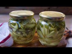 Dovlecei la borcan pentru iarnă–Rețetă Video – Retetele mele dragi Mason Jars, Cooking, Quinoa, Canning, Kitchen, Mason Jar, Brewing, Cuisine, Cook