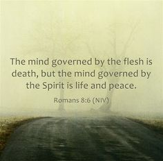 Romans 8:6 (NIV)