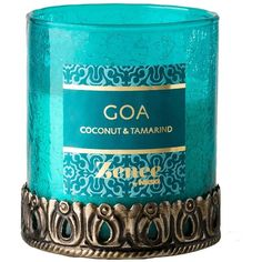 scented candle Goa L coconut and tamarind ($20) ❤ liked on Polyvore featuring home, home decor, candles & candleholders, india home decor, fragrance candles, coconut oil candle, indian home decor and scented candles
