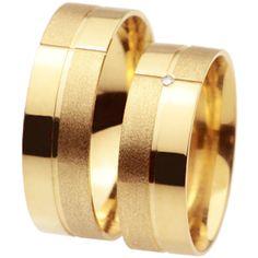 Alianças em ouro amarelo 18k 750 ALB97 Modelo - Aliança Anatômica Trabalhada Peso Médio –12 gr (O Par) Pedras: 1 Brilhante de 1 ponto (na feminina) Largura - 6,0 mm Acabamento - Polida e Fosca Detalhes - Friso Polido WHATSSAP 94927-0791