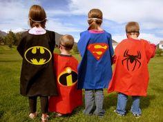 SET Spiderman Superman Batman Superhero Dress Up by kidzescapes Superhero Dress Up, Superhero Capes, Cousin Pictures, Family Pictures, Logo Superman, Incredibles Logo, Hero Symbol, Best Cousin, Batman Spiderman