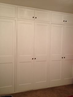 Bespoke shaker style wardrobes from BMC Carpentry & Construction Wardrobe Doors, Built In Wardrobe, New Beds, Shaker Style, Dressing Room, Wardrobes, Storage Organization, Carpentry, Bedroom Inspiration