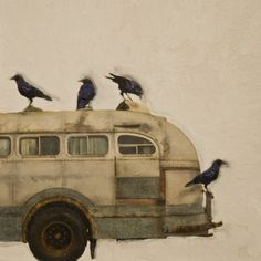 """Saatchi Online Artist: Brian Barrer; Photograph, Mixed Media """"Hitching a ride series"""""""