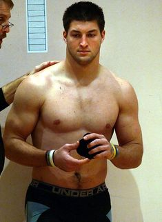 Tim Tebow, this guy is so gross, he looks like his IQ is the same as his waist size.