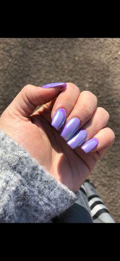 Mermaid chrome coffin acrylic nails