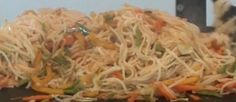 This wonderful dish is a mixture of all the favorite vegetables and sauces with noodles. It is very tasty and simple to prepare.