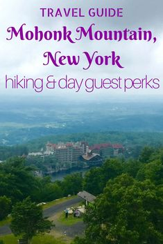 Travel Guide to Mohonk Mountain House Resort as a day guest. Lots of perks if you purchase a meal. This guide walks you through the ins and outs and what vegan dining options are there at breakfast. Hiking and Day Guest Perks by Very Veganish Travel With Kids, Family Travel, Mohonk Mountain House, Mountain Resort, Winter Travel, Cool Places To Visit, Travel Usa, Travel Guides, Travel Destinations