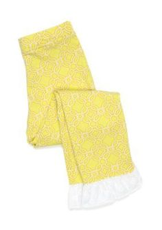 J. Khaki Tropic Lime Printed Ruffle Hem Legging Girls 4-6x