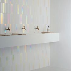 SPECTRE • A collection of pastel tiles available in Matt, Gloss and hologram finish Perfect for the prettiest of spaces . . . #tiles… Hologram Colors, Iridescent Tile, Chic Beach House, Warehouse Apartment, Rainbow Fish, Bathroom Floor Tiles, Stone Tiles, Home Furnishings, New Homes