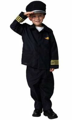 Airline Pilot DressUp Halloween Career Play Costume S 6/8 by Making  Believe. $18.99. Pilot Costume   Item Number: 91011   Our classic pilot costume is fun for everyday play. Your little hero will enjoy hours of fun.  Polyester blue long-sleeved jacket with button-up front. Pants with elastic waistband. Blue hat included.  100% polyester. Hand wash, lay flat to dry.  Imported.  This listing is for size 6/8, fits average 6-8 year old.   Size : 6/8  Color : Blue
