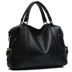Hynes Eagle Womens Leathery Luxury Hobo Satchels Shoulder Handbag (Black) Hynes Eagle