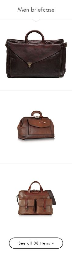 """""""Men briefcase"""" by lorika-borika on Polyvore featuring men's fashion, men's bags, men's briefcases, brown, mens briefcase, mens leather briefcase, mens brown leather briefcase, briefcases, genuine leather и travel & business"""