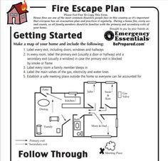 When you make the determination that you are ready to start the process of owning your own day care, the first thing to recognize is that you are not going down Fire Safety Tips, Safety Week, Home Safety, Escape Plan, Fire Escape, Emergency Binder, Emergency Preparedness, Evacuation Plan, Fire Prevention