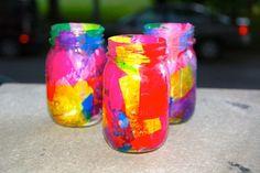 Mod Podge kids luminaries (make for Halloween in fall colors) Kindergarten Crafts, Preschool Crafts, Craft Activities For Kids, Crafts For Kids, Craft Ideas, Jam Jar Crafts, Mod Podge Crafts, Diy Crafts, Paper Crafts