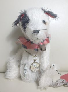 """""""Benny"""" the Jack Russell Terrier with circus ruff, by Ragtail n Tickle."""