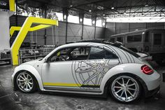 Custom Painted White VW Beetle Side Skirts - Photo by Blaque Diamond Wheels Baja Bug, Car Accessories For Girls, Aftermarket Parts, Vw Cars, Custom Wheels, Military Discounts, Vw Beetles, Custom Paint, Cool Cars