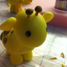 Gum paste baby giraffe