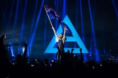 Jared on stage in Australia