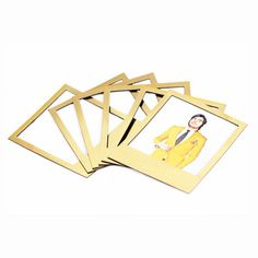 Mount photos on your fridge with these Golden, stylish and magnetic Polaroid-inspired photo frames. Comes with 6 magnet frames. Designed by: Doiy Designed in: B