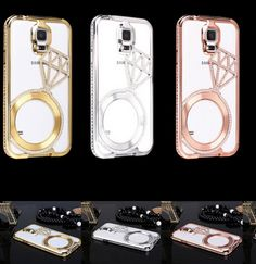 Luxury Full Star Diamond Metal Frame Case For Samsung Galaxy S5 i9600 S6 Bling Rhinestone Bumper Samsung S6 Case S5