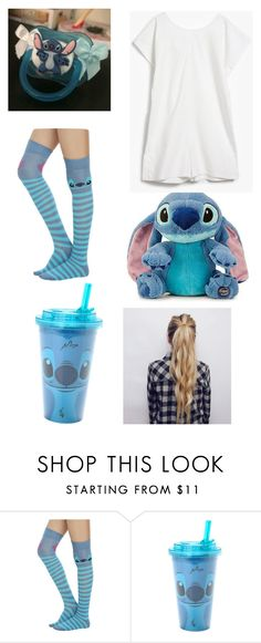"""ddlg -stitch-"" by princess-llyssa ❤ liked on Polyvore featuring Disney and Base Range"
