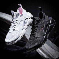 The Nike Air Huarache Run Ultra Breathe Trainer in white   black. Mens  Trainers a0cef0510