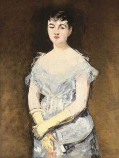 Edouard Manet, Portrait of Mademoiselle Isabelle Lemonnier on ArtStack #edouard-manet #art