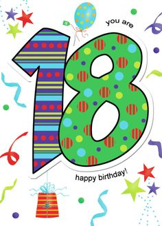 Happy 18th Birthday Quotes, Happy Birthday Clip Art, Happy Birthday Kids, Birthday Clips, Art Birthday, Happy Birthday Images, Happy Birthday Wishes, Spiritual Birthday Wishes, Birthday Wishes Messages