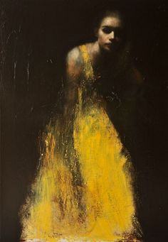 portraits by artist Mark Demsteader. The Manchester-based contemporary figurative artist is a self-taught master of the human form. His oil on canvas pieces feature pale figures set against a dark background. Mark Demsteader, Figure Painting, Painting & Drawing, Love Painting, Painting Clouds, Yellow Painting, Painting Abstract, Texture Painting, Woman Painting