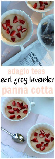 ADAGIO TEAS EARL GREY LAVENDER PANNA COTTA