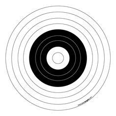 Black & White Printable Target
