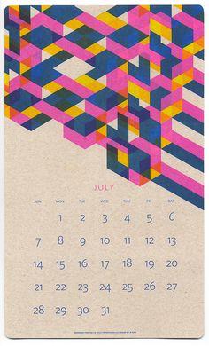 Isometric Risograph kalender 2015