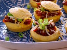 Get Cornbread and Chili Bites Recipe from Food Network