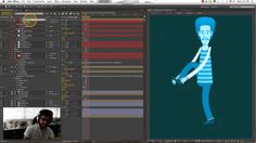 2D Character rig using puppet tools, scripts and expressions in After Effects
