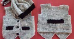 Erkek çocuklar için örgü yelek - Derya Baykal - Örgü Dantel Modelleri Örnekleri