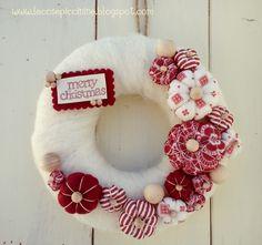 Le cose Piccinine - Christmas Wreath Tutorial