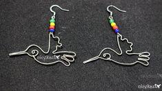 How to make hummingbird earrings using wire