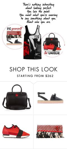 """""""Be yourself Everyone else is taken"""" by obsessedaboutstyle ❤ liked on Polyvore featuring Givenchy, RED Valentino, Balenciaga, Emilio Pucci and Miu Miu"""