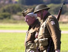 """Participants at Shoreham Airshow dressed as members of the TV sitcom """"Dads Army"""""""