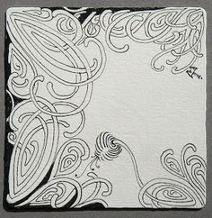 We are excited to share a new tangle that we have been working on. It's called mooka. Read more about it and view written directions at th. Doodle Designs, Doodle Patterns, Zentangle Patterns, Art Designs, Zentangle Drawings, Doodles Zentangles, Zen Doodle, Doodle Art, Alphabet Art