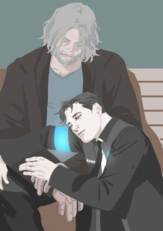 Detroit become human Connor and Hank By: @t00_Far