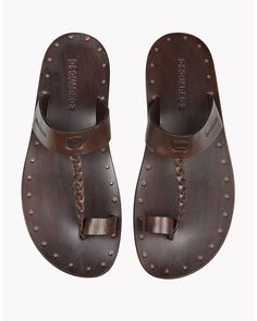 34f04fcad DSquared² - Brown Moses Sandals for Men - Lyst