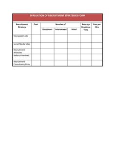 Form Final Selection Spreadsheet  Human Resource Management