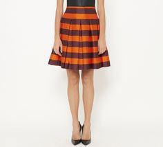 Prada Maroon, Burnt Orange And Black Skirt