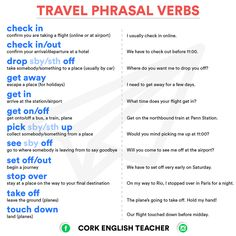 Travel Phrasal Verbs