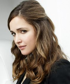 Rose Byrne - Casual Half Up Long Curly Hairstyle - side view
