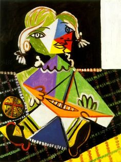 Pablo Picasso, 1938 Maya au bateau 2 on ArtStack #pablo-picasso #art