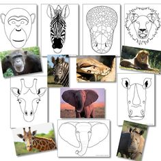 African animal mask templates - useful for final assembly